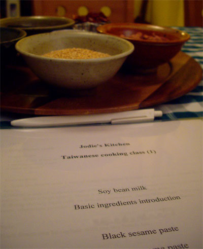 ingredients, recipes and instruction book for students