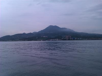 View of Guanyin Mountain From Danshui River